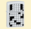 Zippo Зажигалка 20897 Crossword Puzzle White Matte