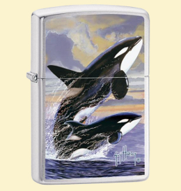 Zippo Зажигалка 24305 Guy Harvey Killer Whales